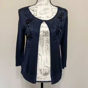 August Silk Cardigan Silk & Wool Blend Sweater